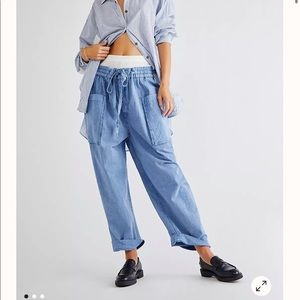 Free People Be the Change Slouch Pants NWOT